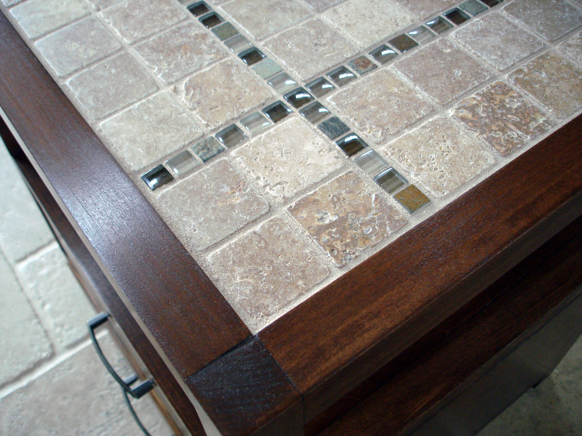 M Rhyan End Table Or Nightstand Modified With A Tile Top