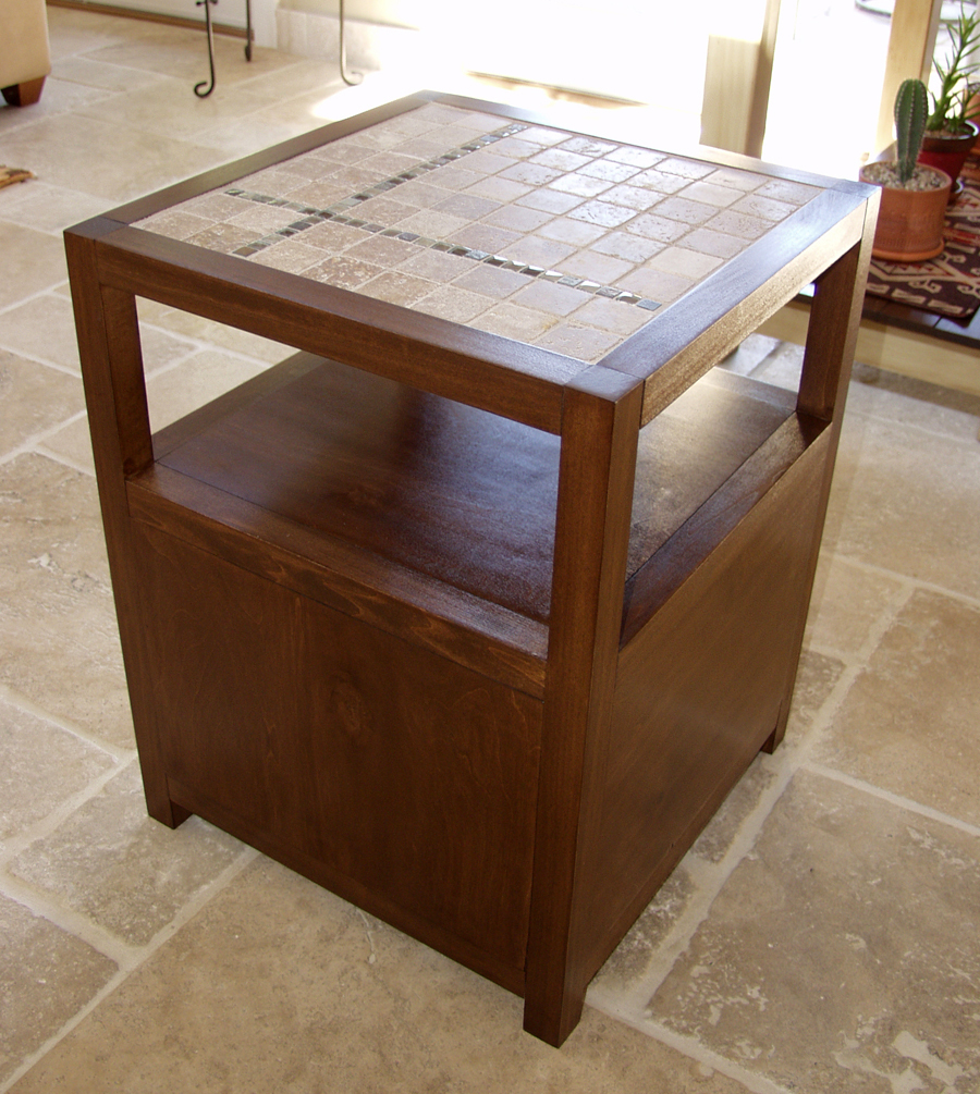 Lovely Rhyan End Table (or Nightstand) Modified With A Tile Top