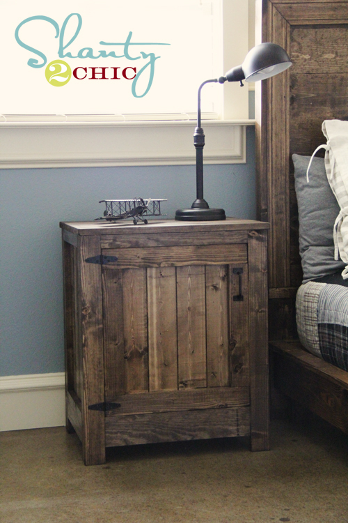 ana white | kentwood nightstands or end tables - diy projects Diy Rustic Nightstand