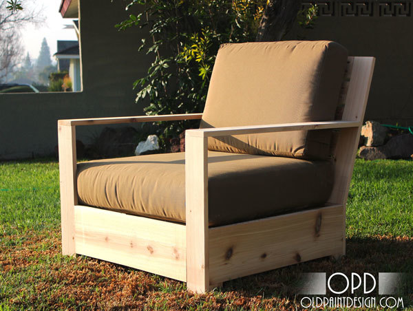 With the help of my friend Shane today I am so excited to introduce plans for a more contemporary outdoor lounge chair. & Ana White | Bristol Outdoor Lounge Chair - DIY Projects