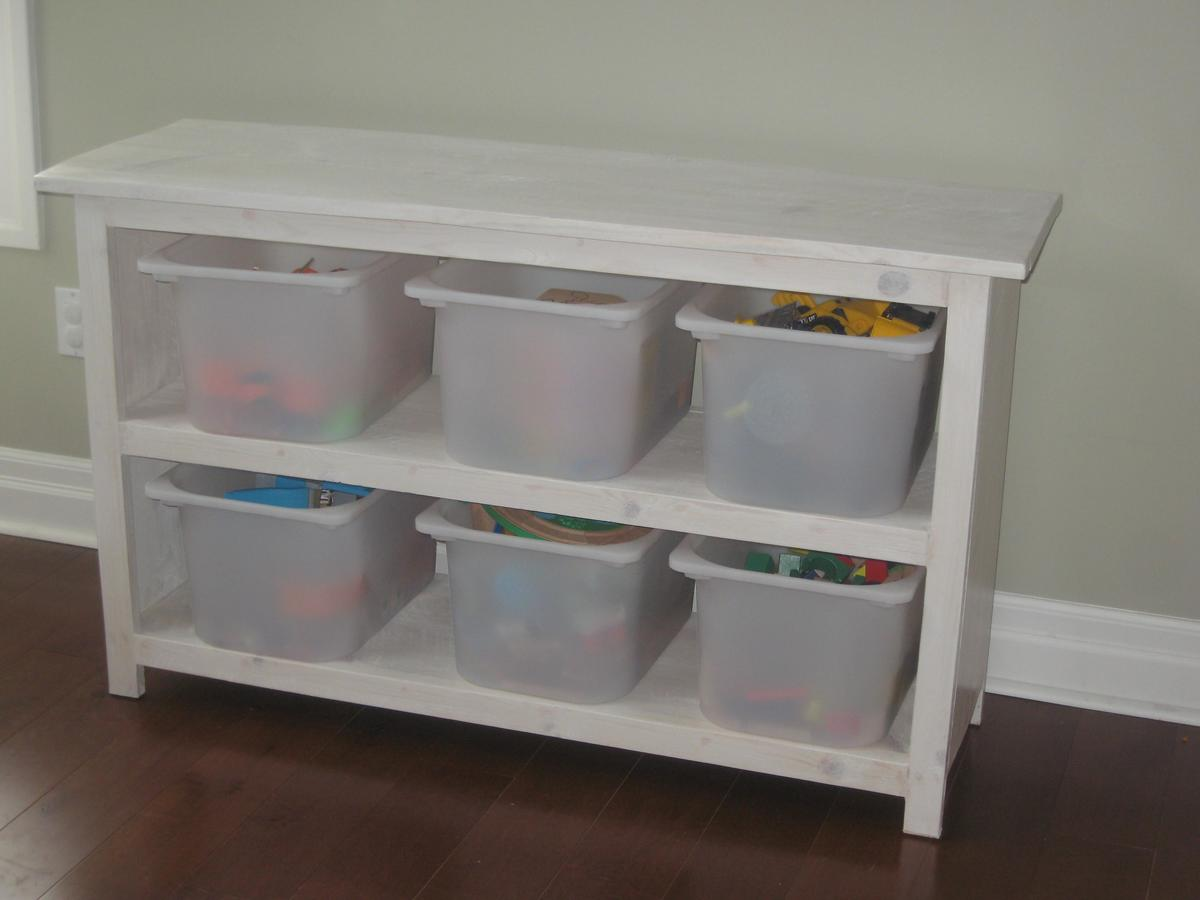 Ana white perfect and solid shelf fitting ikea toy bins diy projects - Toy shelves ikea ...