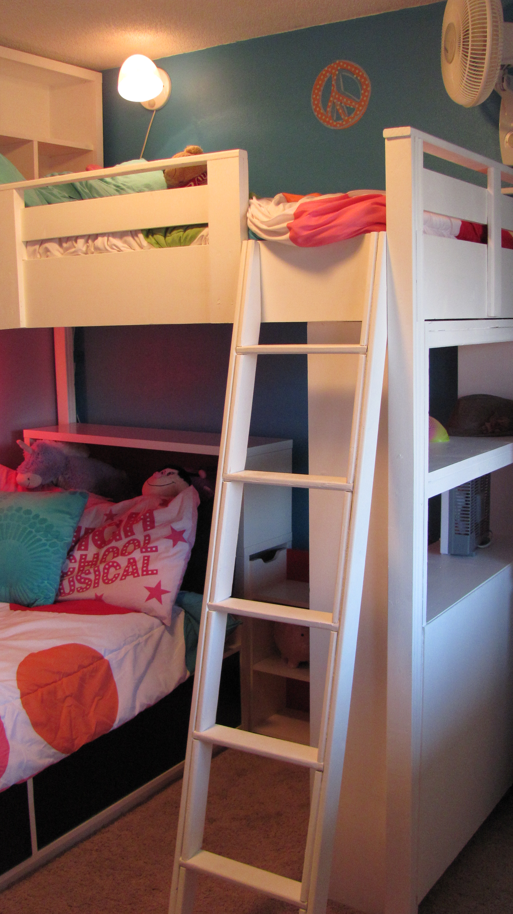 Loft Bed W Bookcase And Headboard Ana White