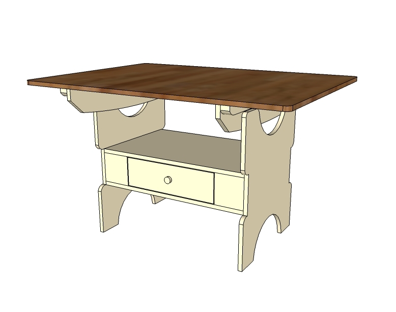Dining Table: Free Dining Table Building Plans