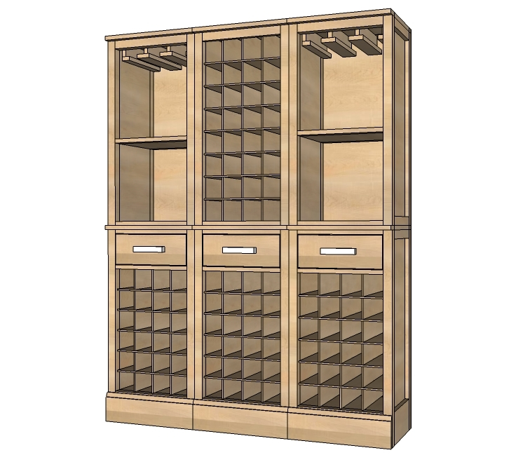 Ana white modular bar wine grid hutch diy projects for How to build a wine bar