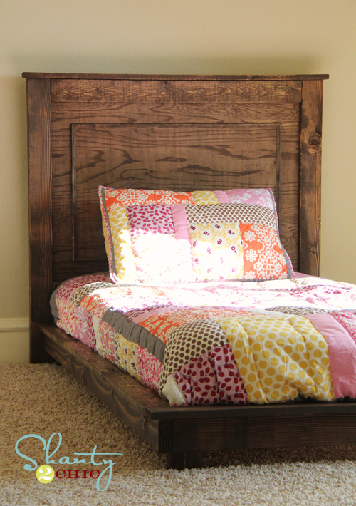 how to make a platform bed with headboard 2