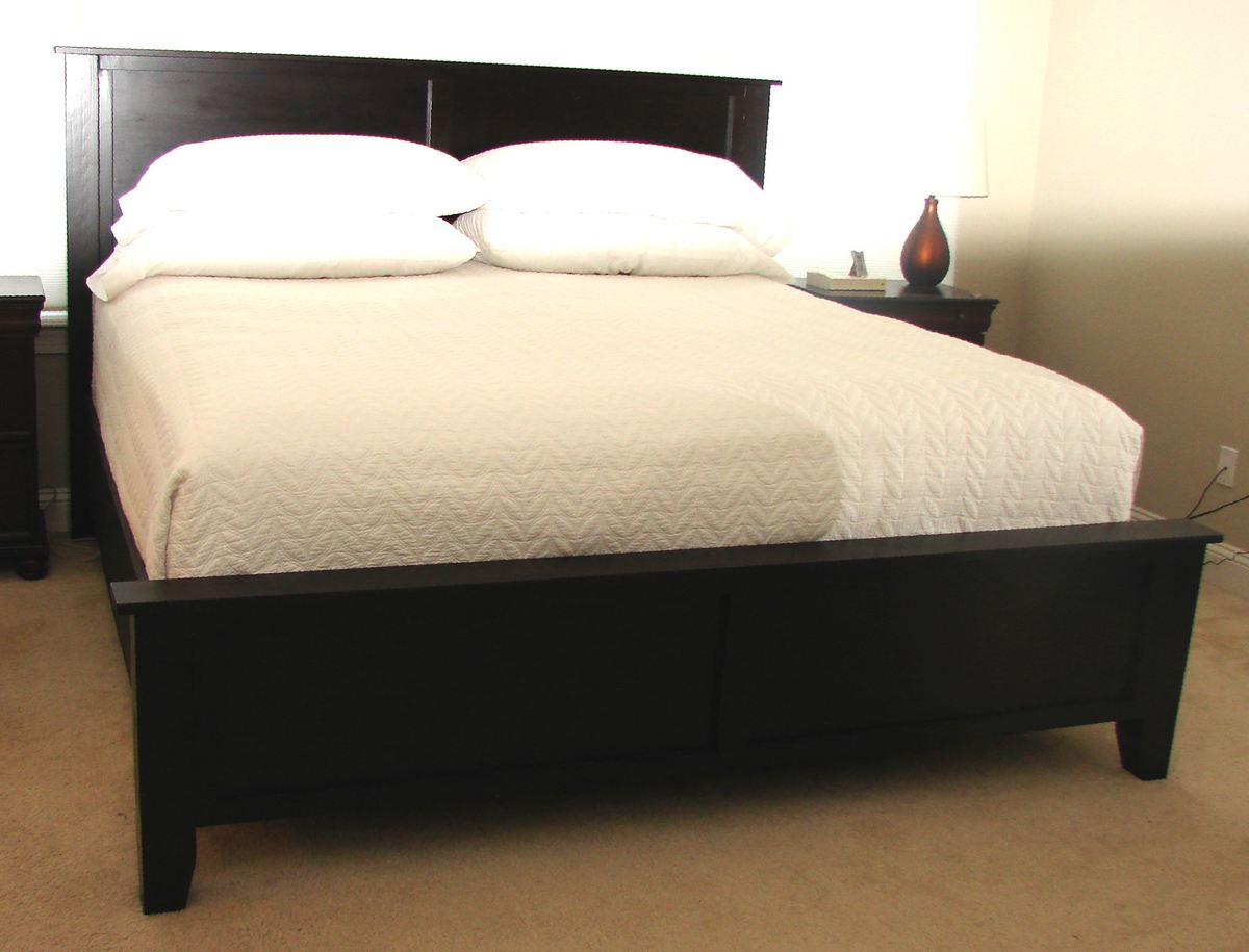 Ana White Farmhouse Bed King Modified Diy Projects