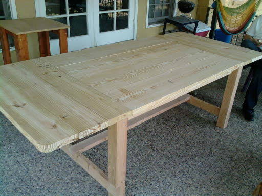 it took about 8 hours to completely assemble and another several hours of sanding and then finally about three hours to stain - Diy Dining Room Table Plans