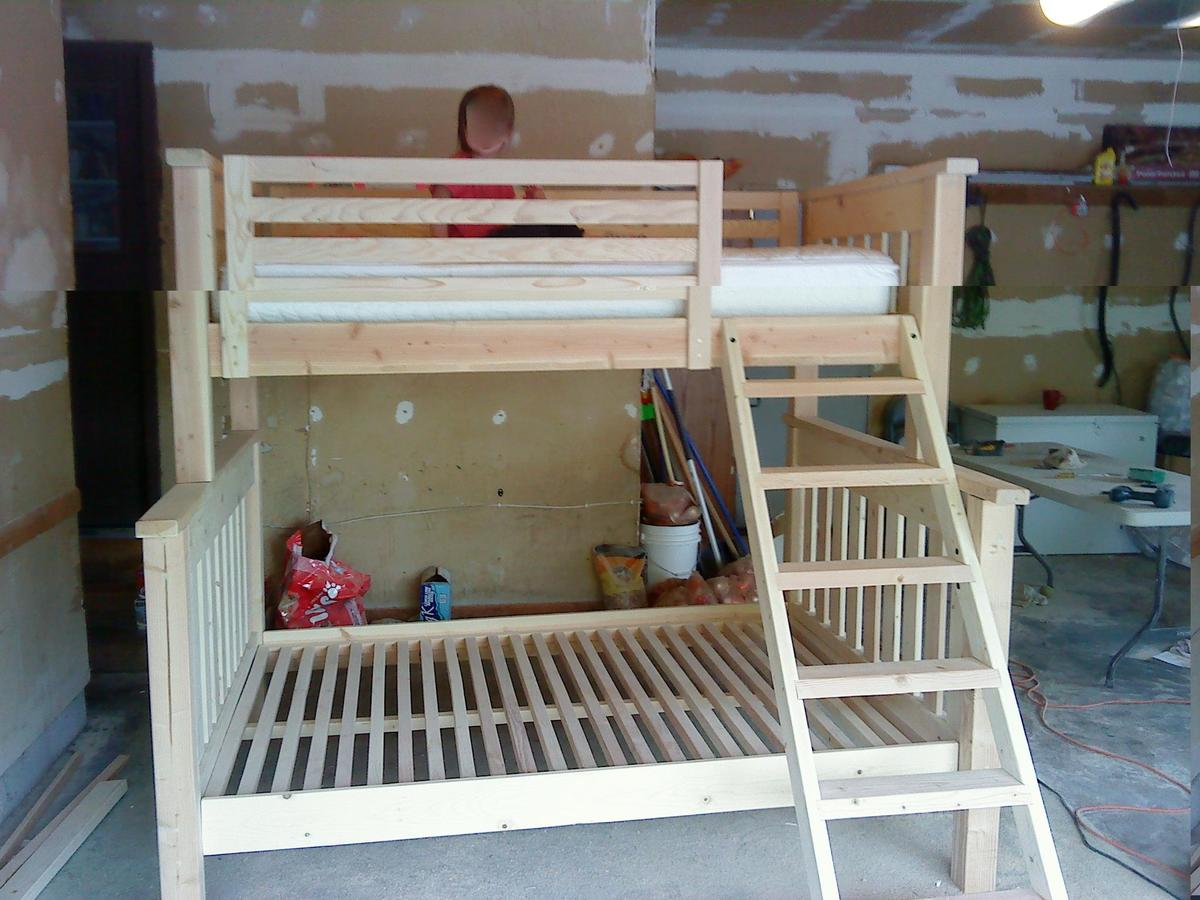 Building Bunk Beds Simple bunk bed, twin over