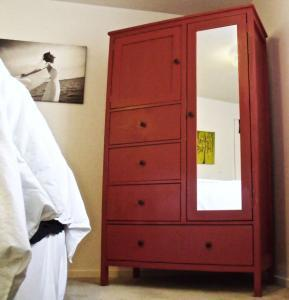 Featuring three small and one large drawer a mirrored door with closet space and a top cubby this wardrobe in a box will suit all of your bedroom storage ... & Ana White | Mirrored Door Wardrobe - DIY Projects