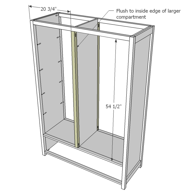 Ana white mirrored door wardrobe diy projects now trim out the bottom shelf as shown above solutioingenieria Images