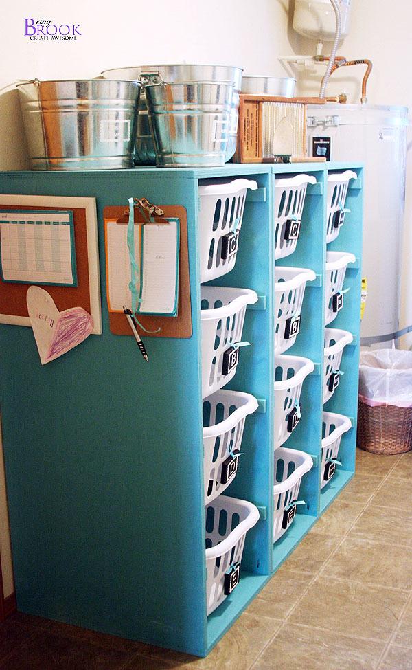 Brook Laundry Basket Dresser 4 Tall