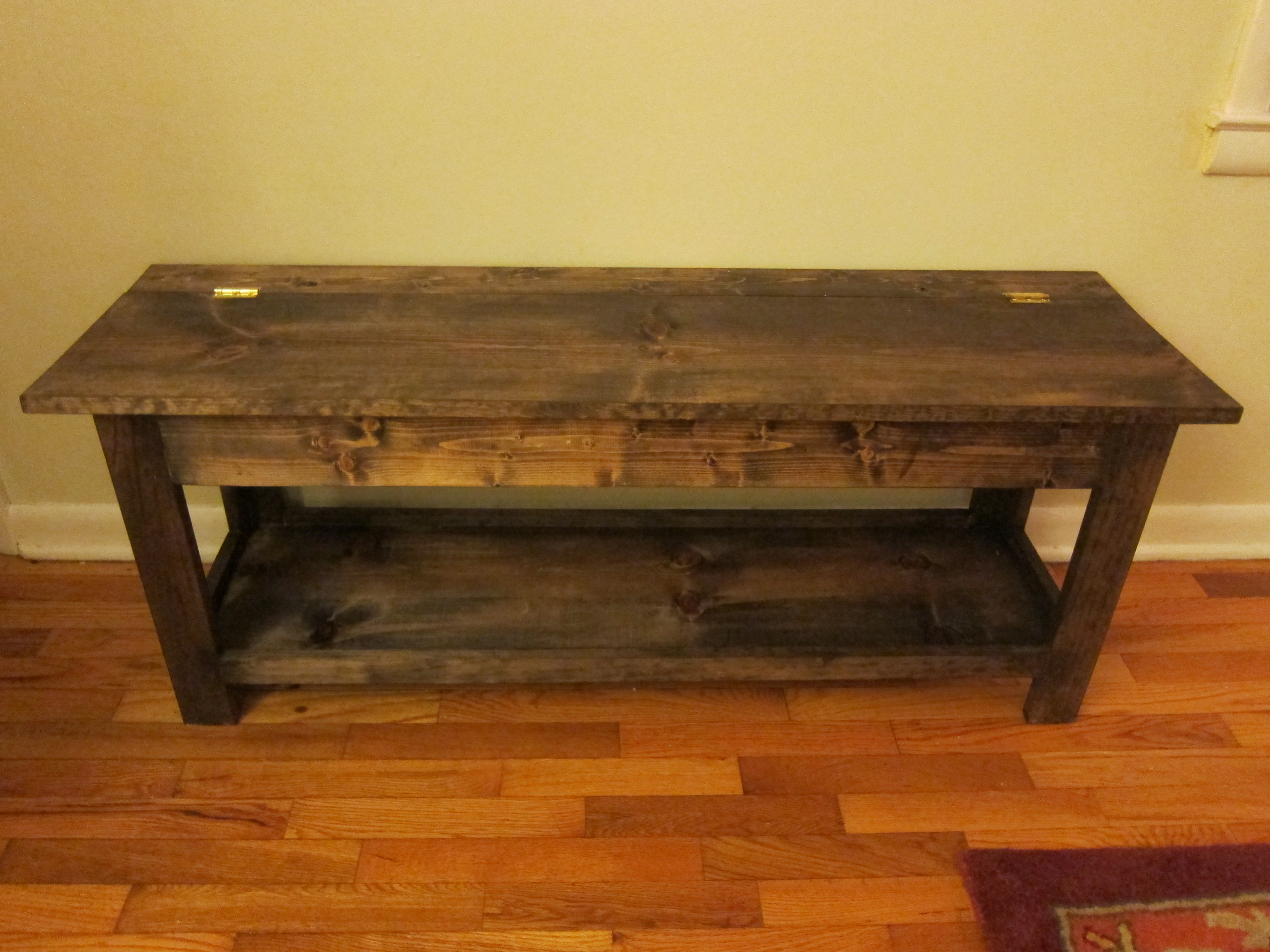 Ana White Flip Top Bench Diy Projects
