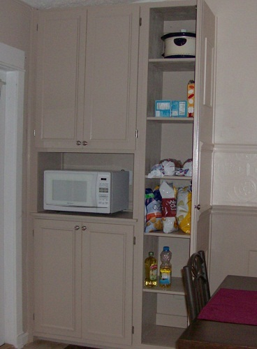 Ana white pantry cabinet diy projects Diy white cabinets