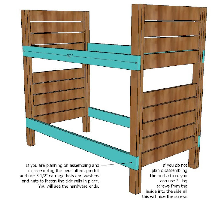 Wood 2 X 6 Bunk Bed Plans PDF Plans