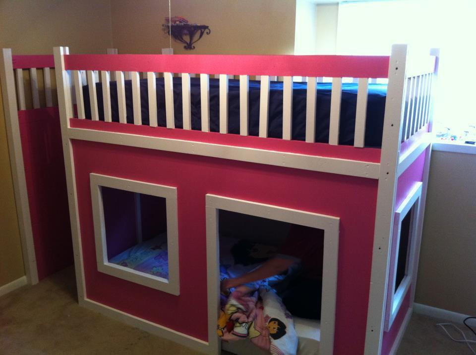 Do it yourself princess bunk beds for How to make a princess bed