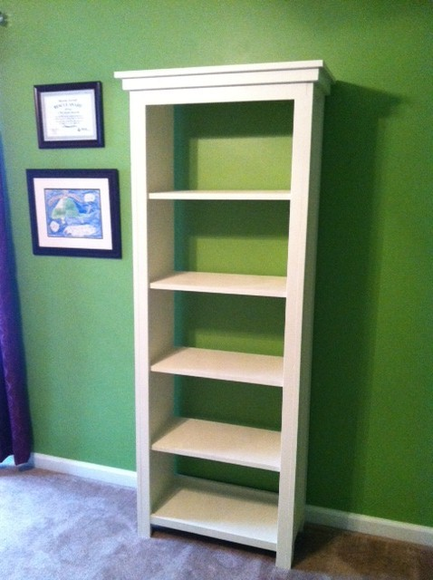 Ana white channing bookshelf diy projects for Do it yourself built in bookshelves