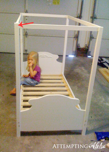 Toddler Canopy Bed & Ana White | Toddler Canopy Bed - DIY Projects