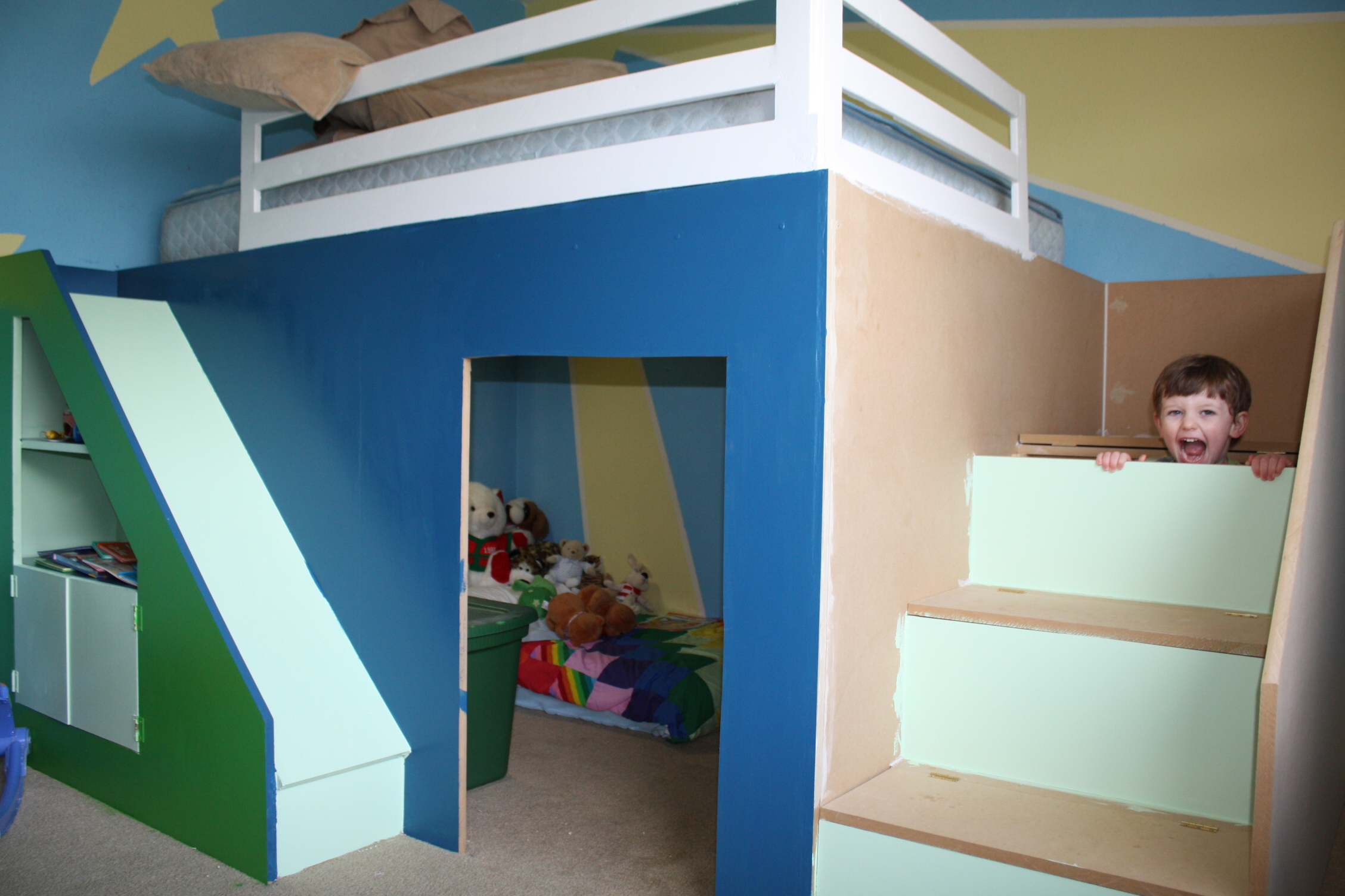 Ana White My First Build Queen Size Playhouse Loft Bed
