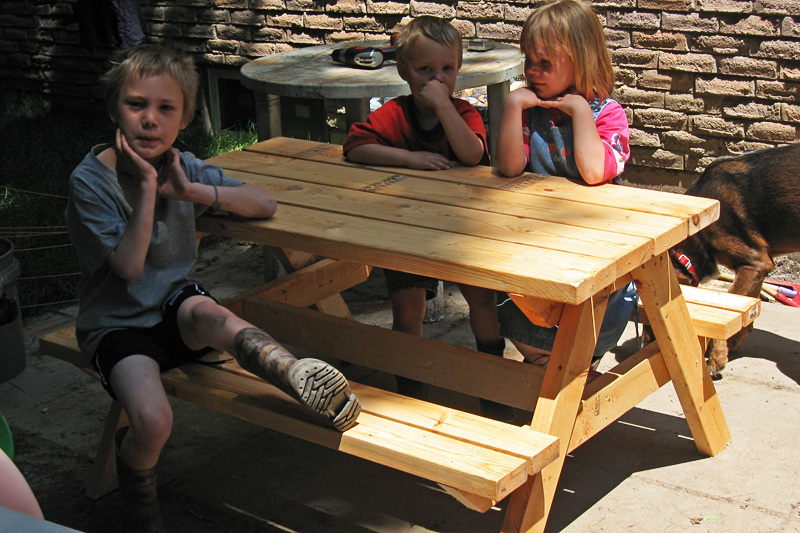 build your own children's picnic table