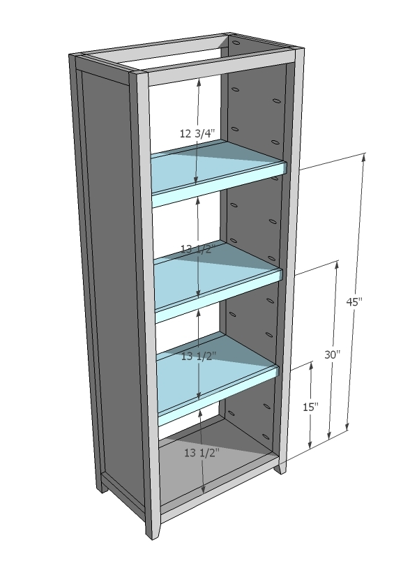 Step 5 Instructions: Build Three Shelves As Shown Above.