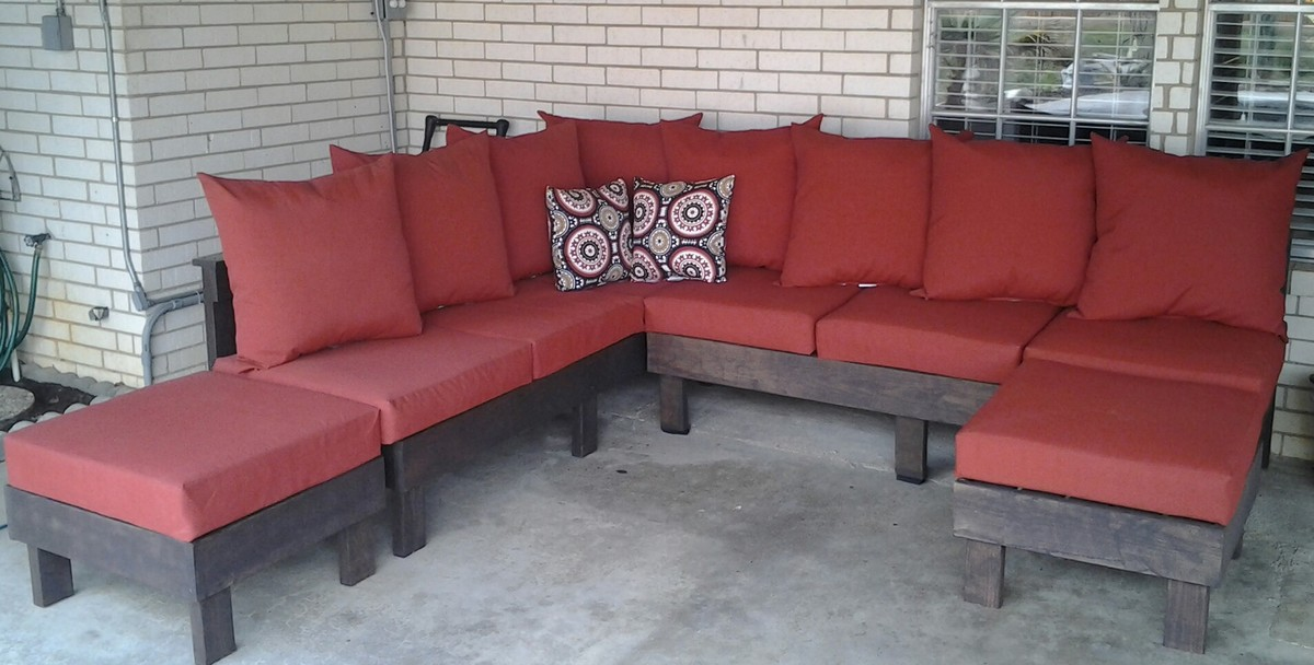 Ana white outdoor sectional diy projects for Outdoor sofa plans