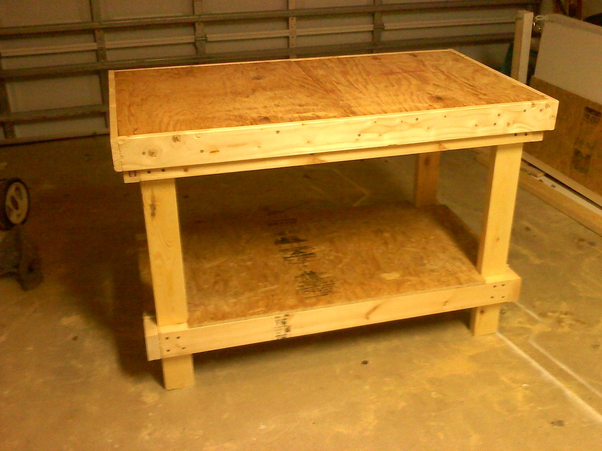 ana white 20 very sturdy work bench diy projects