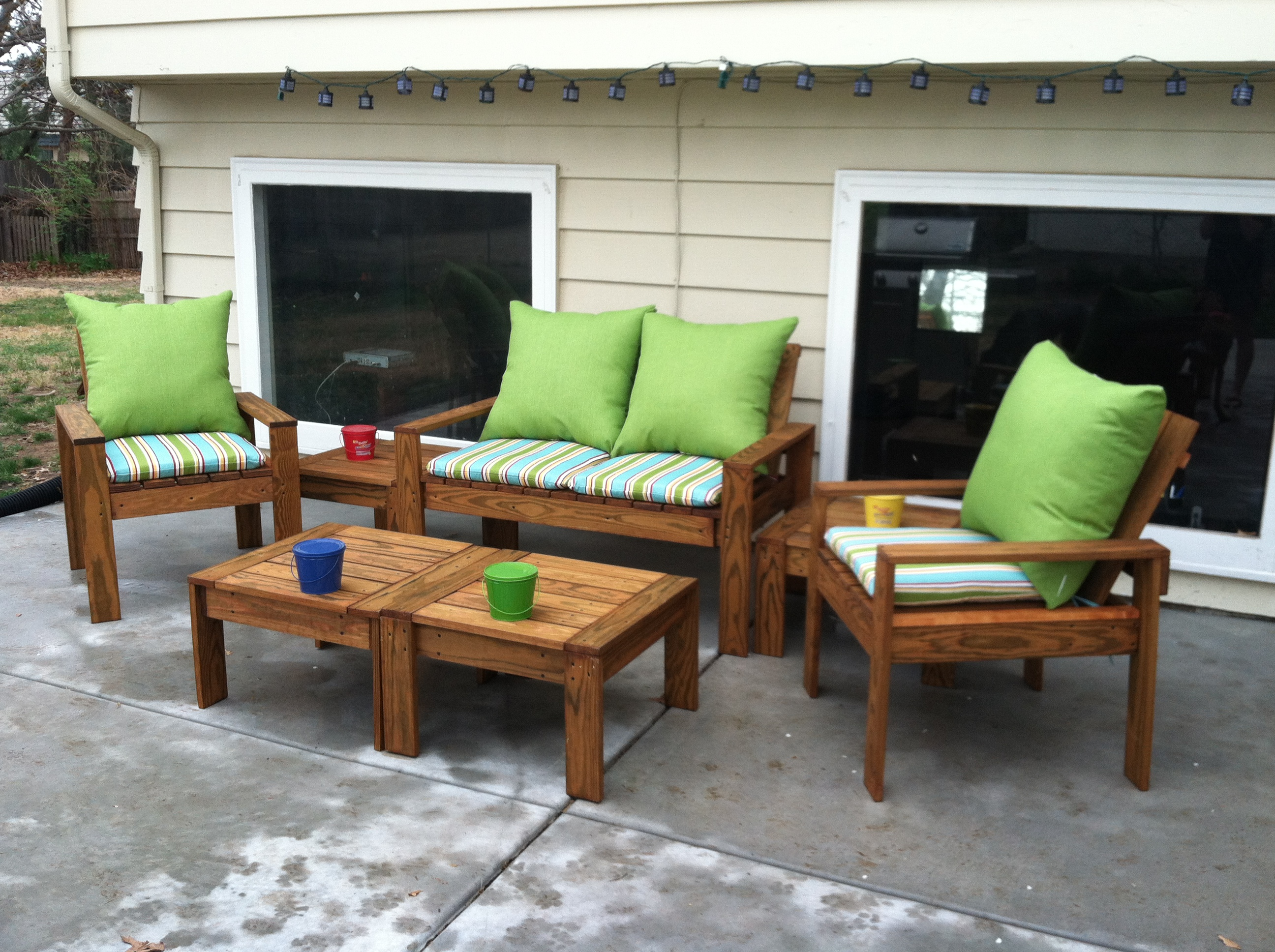 ana white simple outdoor conversation set diy projects