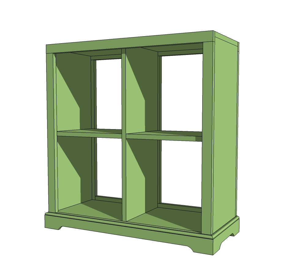 4 Cubby Bookshelf Or Nightstand