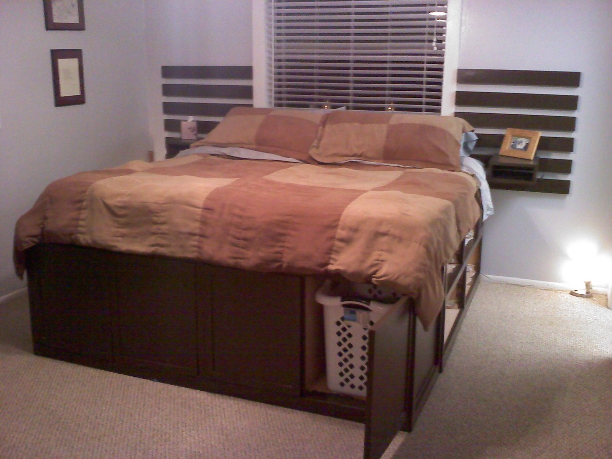 Ana White | King size Storage Bed - Highly Modified - DIY ...