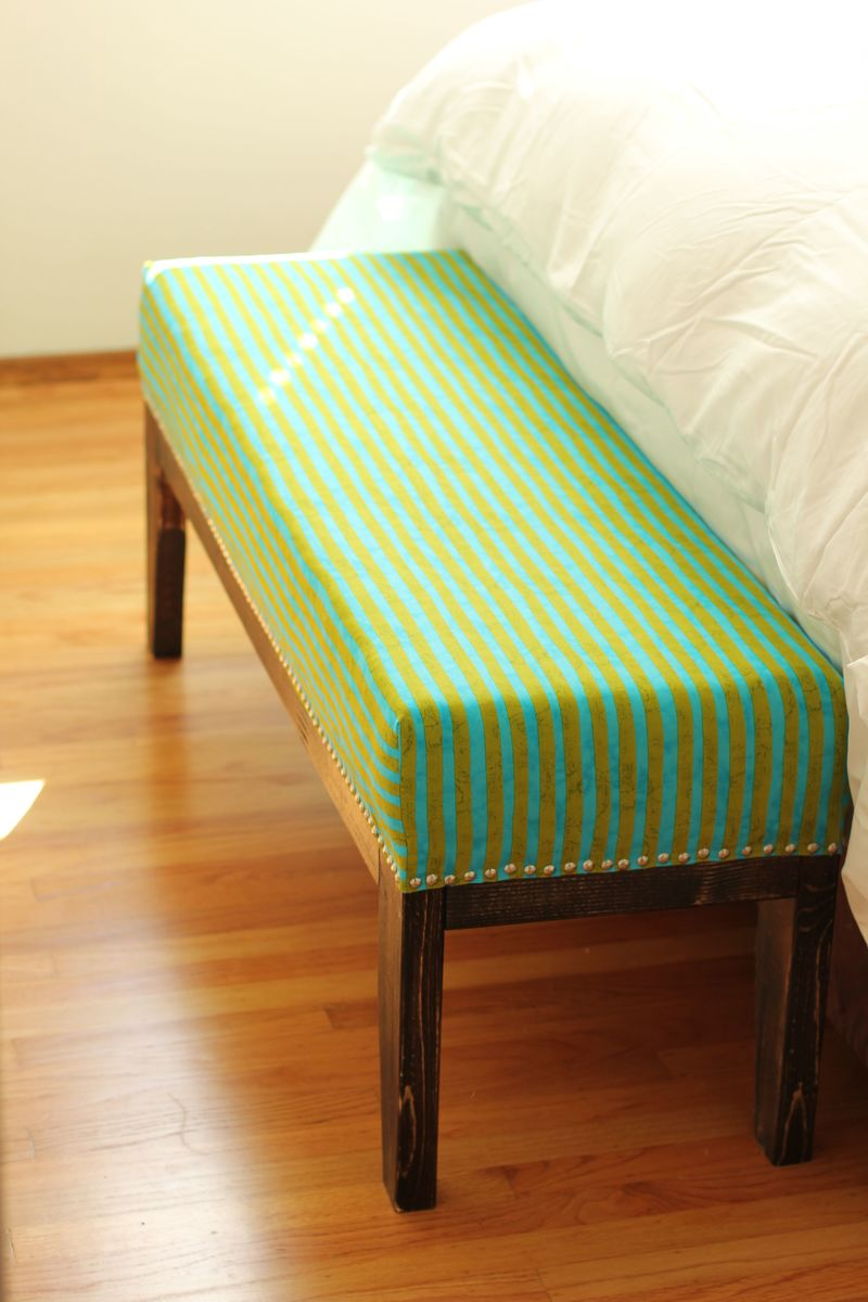 Ana White Easy Upholstered Bench Diy Projects: white upholstered bench