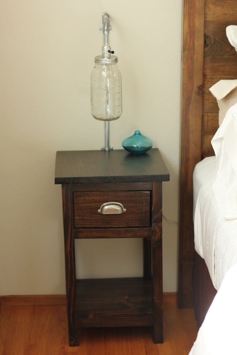 Ana White Mini Farmhouse Bedside Table DIY Projects