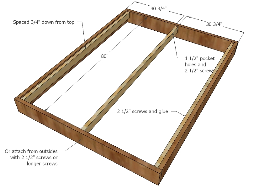 queen bed frame measurements 1