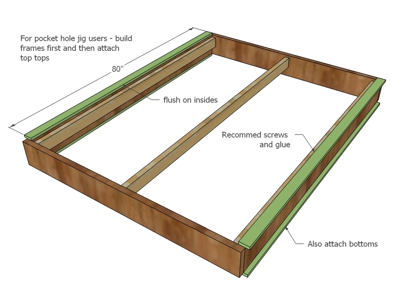 king size platform bed drawers plans | Quick Woodworking ...