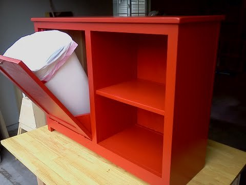 Ana White Tilt Out Garbage Center With Shelves Diy