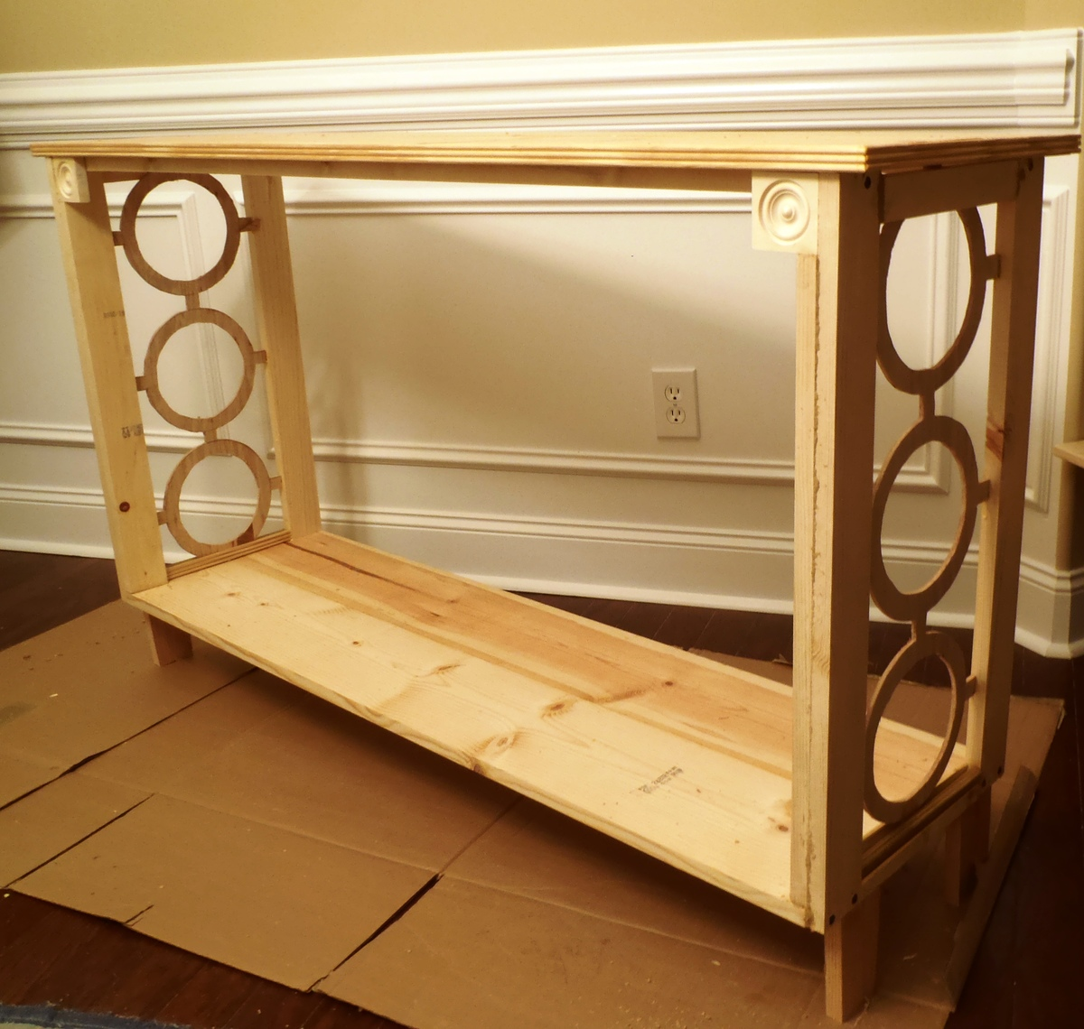 Diy crate console table - Narrow Console Table