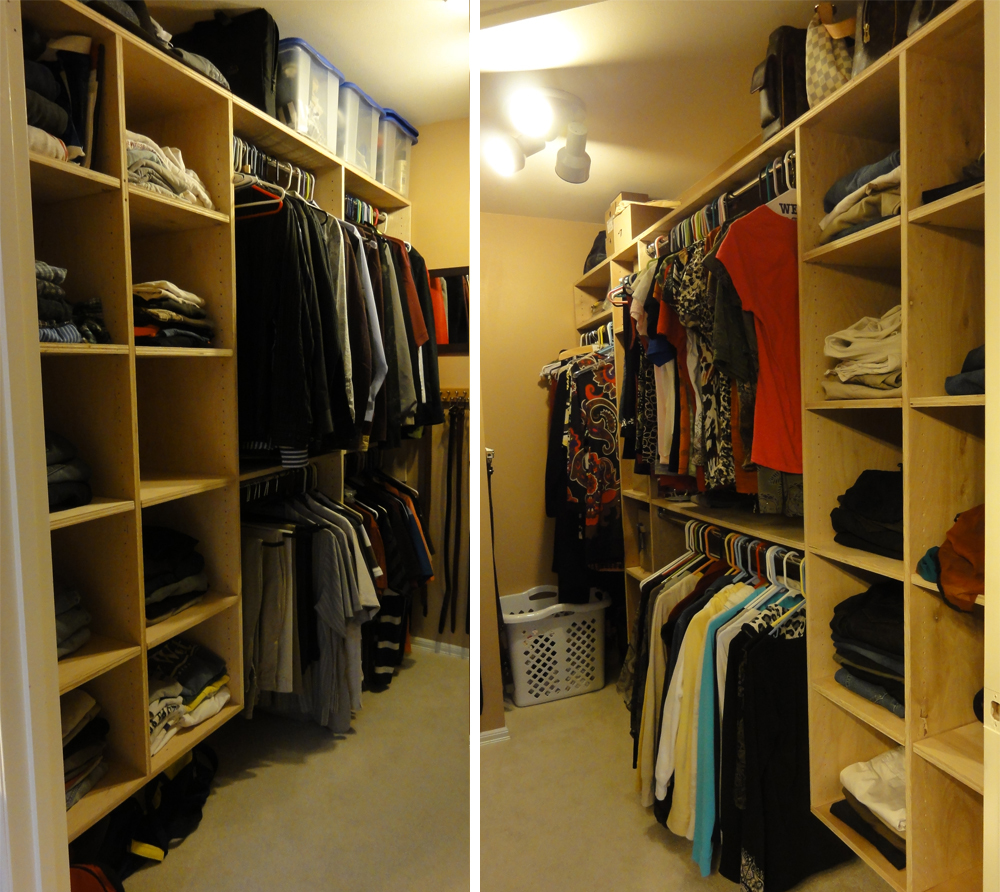 Ana white surprise master closet makeover diy projects for Diy master closet ideas