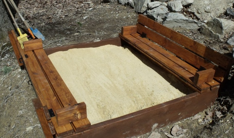 Ana White Sandbox With Bench Seats Diy Projects