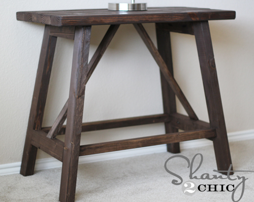 Ana White | Build a Truss End Table | Free and Easy DIY Project and ...
