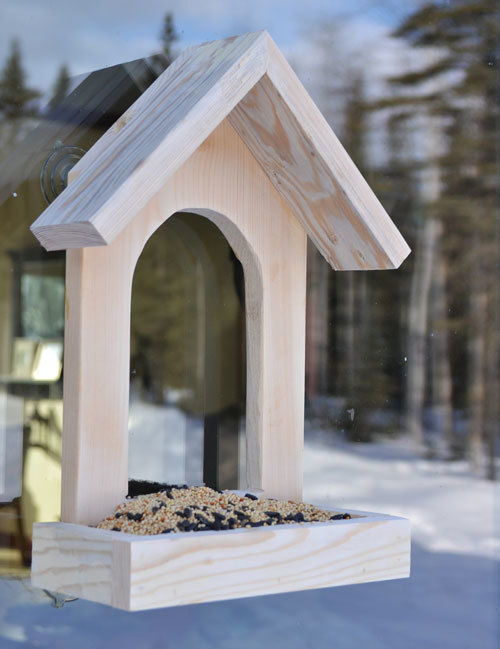 Ana white window birdfeeder diy projects for Simple house design made of wood