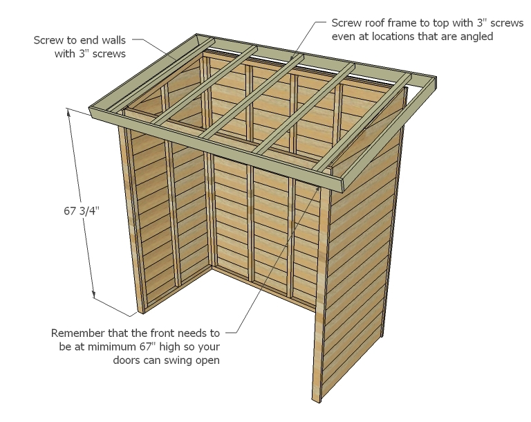 Ana white small cedar fence picket storage shed diy projects - How to build a wooden shed in easy steps ...