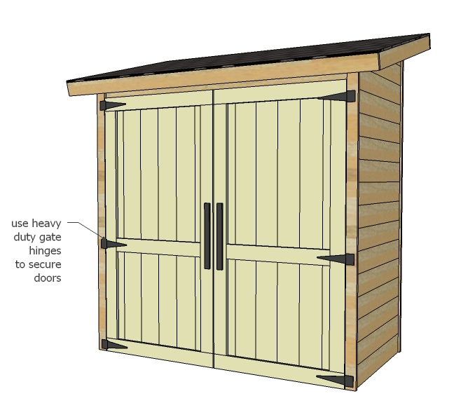 Ana white small cedar fence picket storage shed diy Building design tool