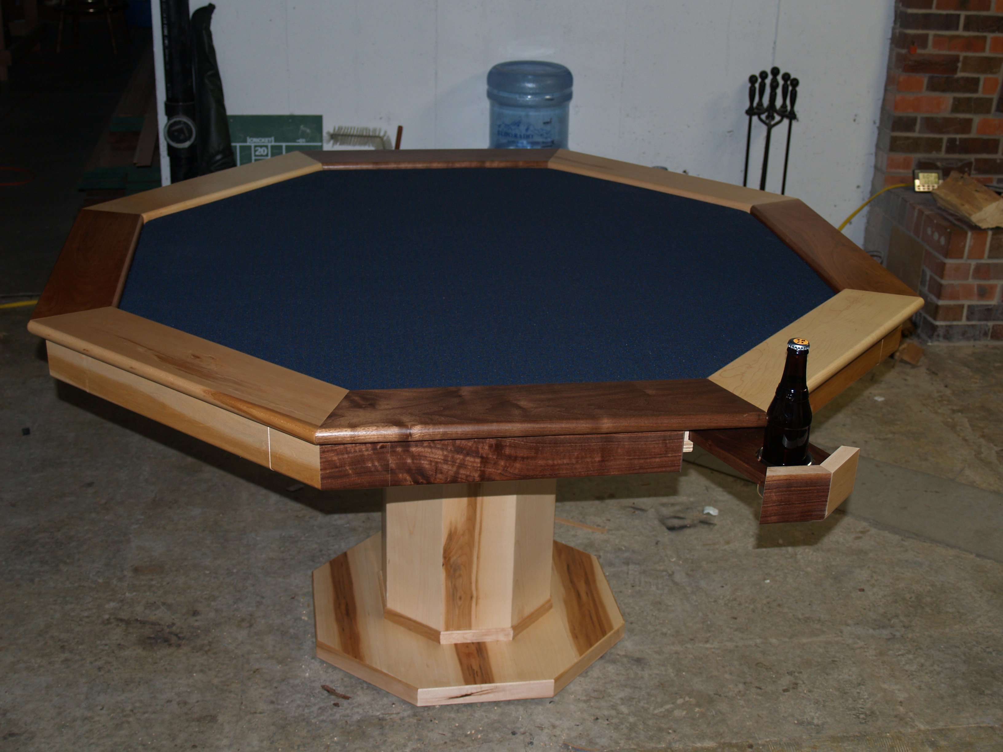 Ana White Poker Table With Hiding Beverage Holder Diy