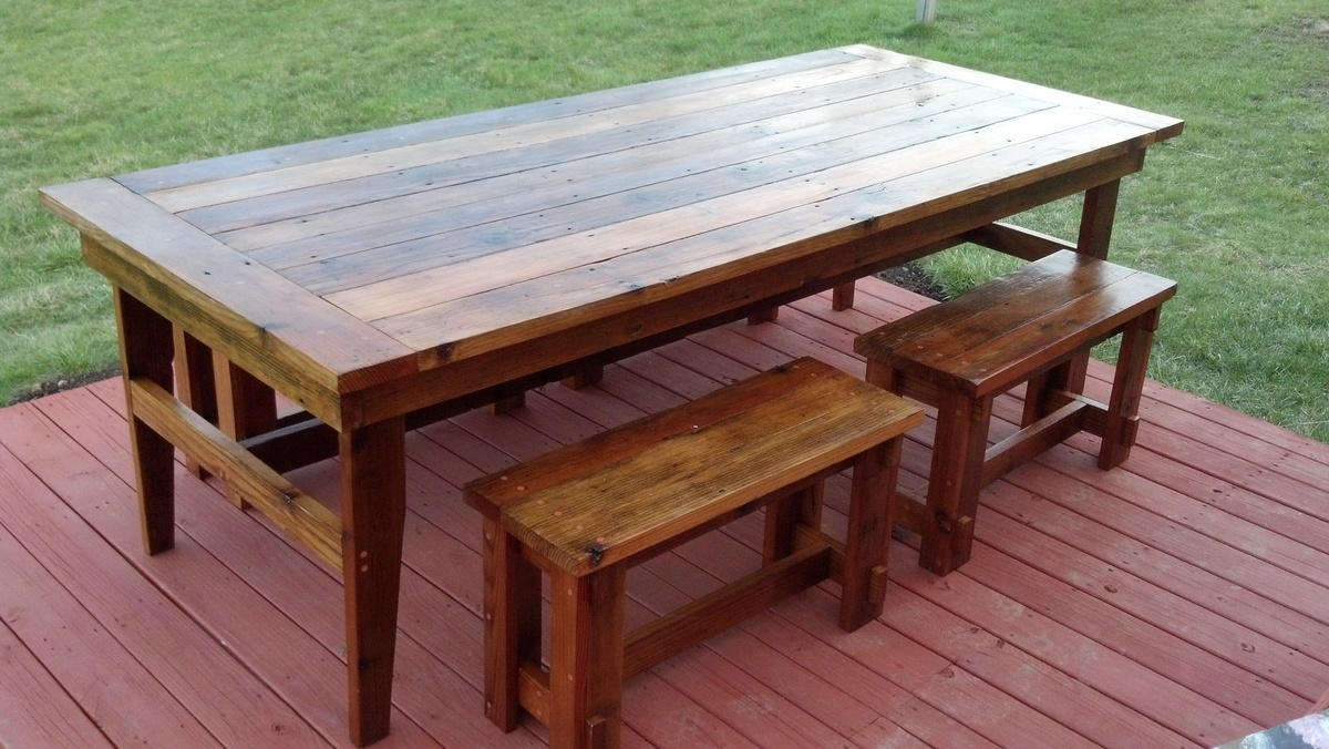 ana white rustic farm table benches diy projects