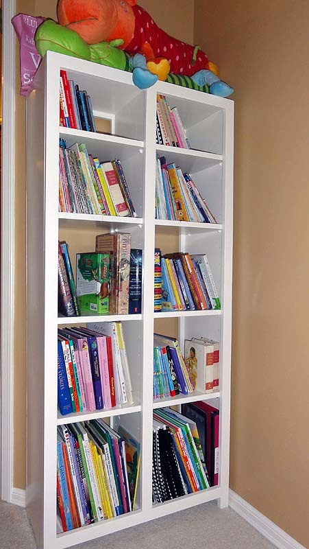Cubby Bookcase For A Big Girl!