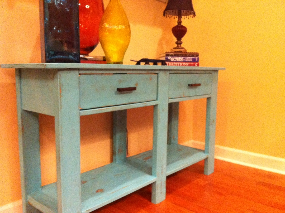 Foyer Furniture Plans : Ana white benchwright console table diy projects
