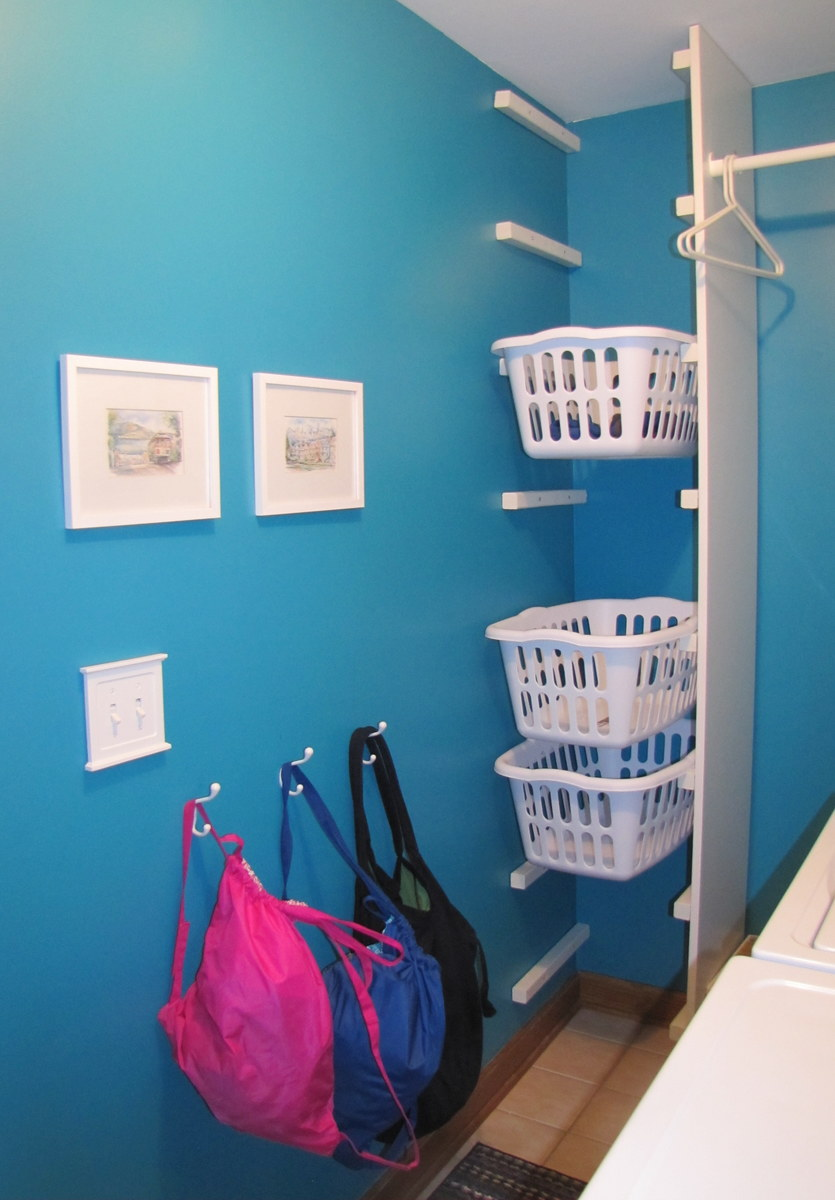 Laundry Room Ideas Organization Shelves Hanging Clothes