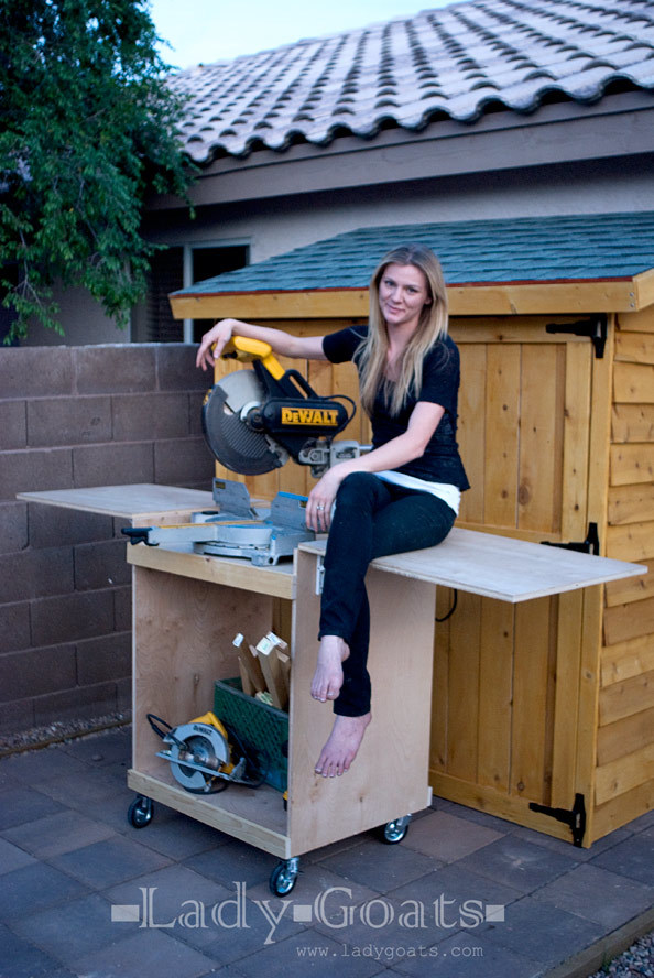 Ana White Miter Saw Cart Diy Projects