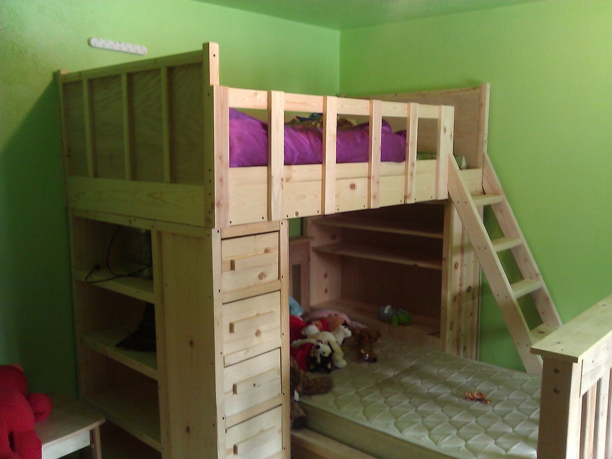 25 Diy Bunk Beds With Plans: Cabin Bunk Beds - DIY Projects