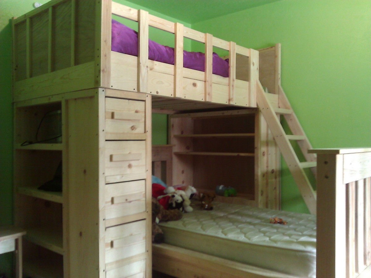 Wood work cabin bed plans pdf plans for Cabin bed plans