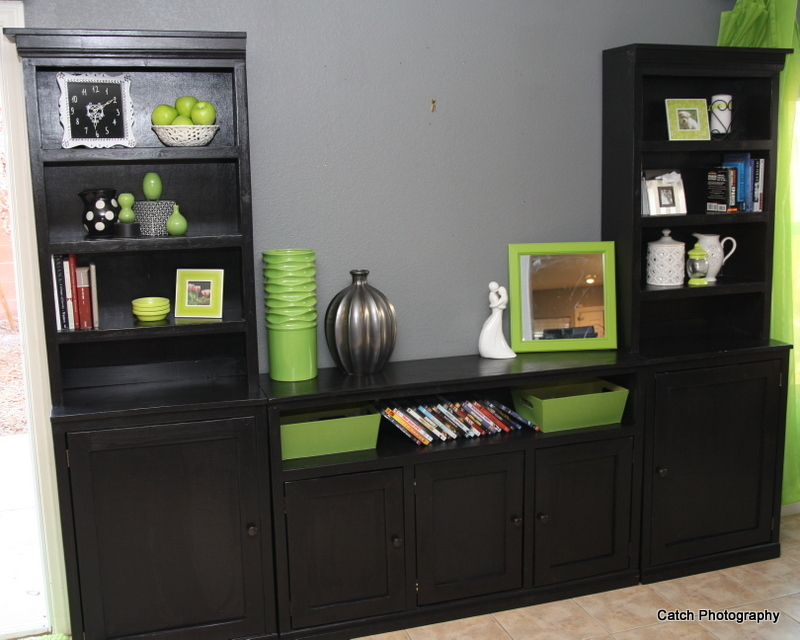 black storage wall plans
